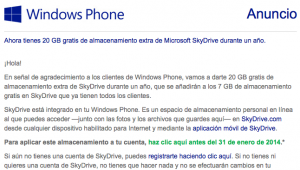 windows phone anuncio